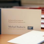 Visitenkarte von Michael Rudnicki, Anwalt für Strafrecht in Berlin